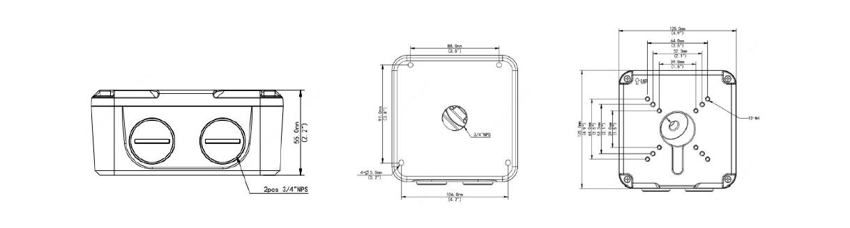 TR-JB07-D-IN Dimensions