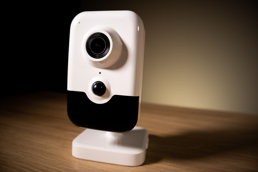 The beautiful 5MP Wi-Fi Cube Camera, only available at Nelly's Security!