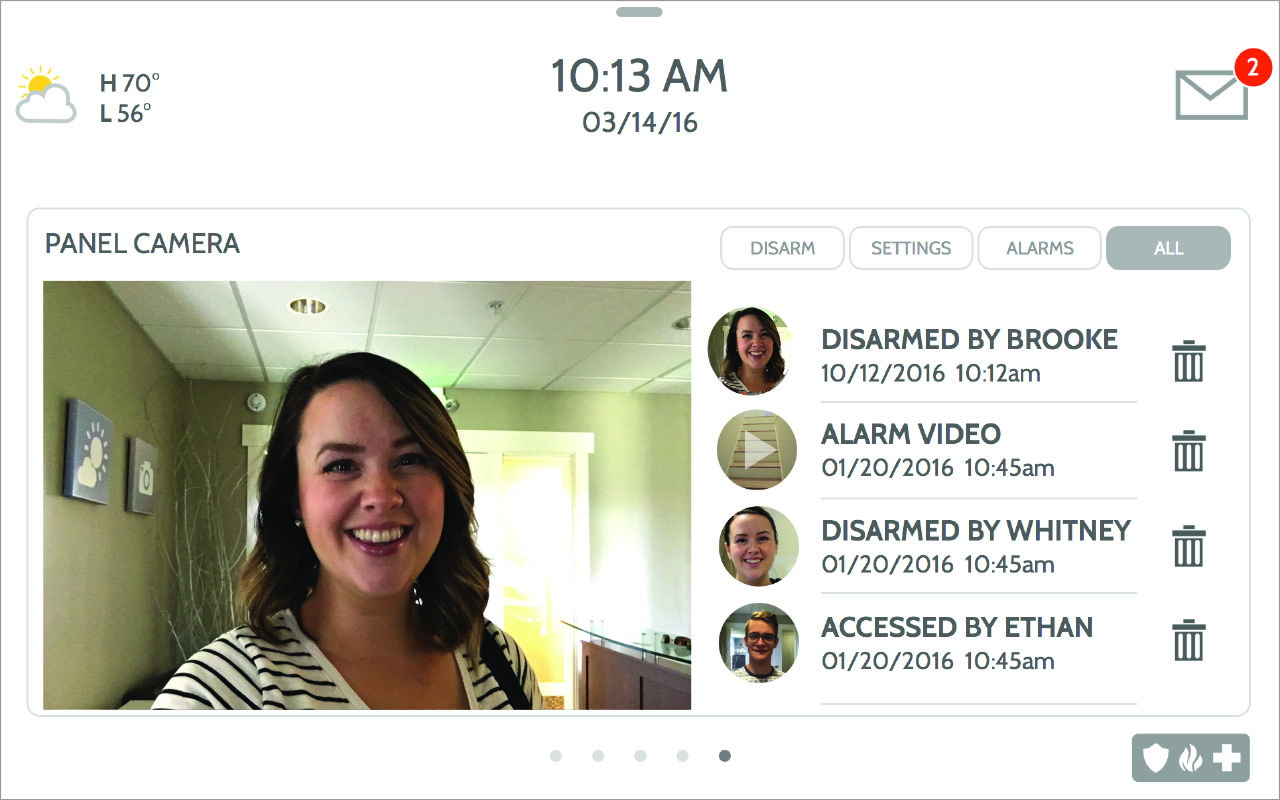 Disarm photos allows you to see a live image from your panel right when the alarm has been disarmed