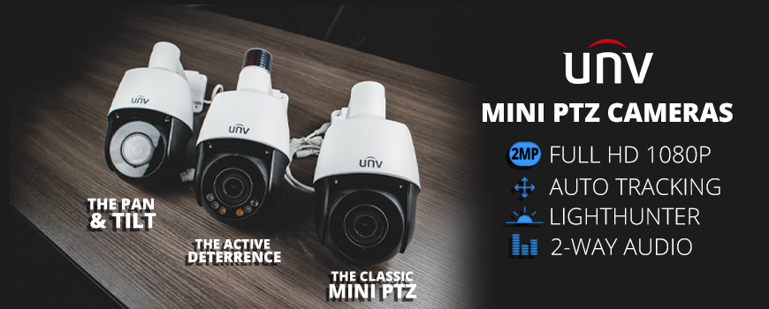 Uniview's Outdoor Mini PTZ Series: We Have Something For Everyone!