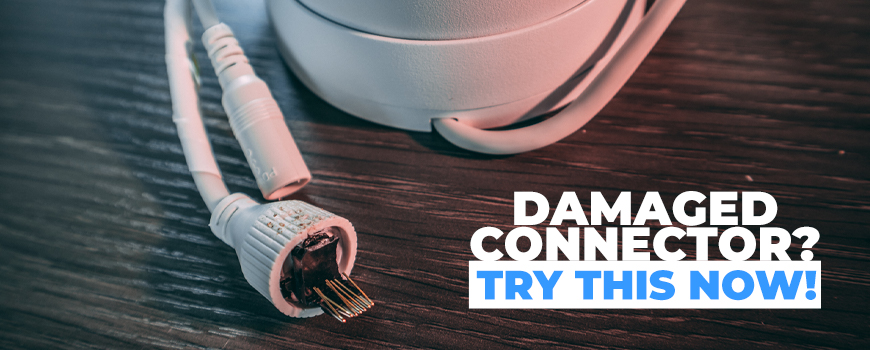 How to Fix Your IP Security Camera's Damaged RJ45 Ethernet Connection