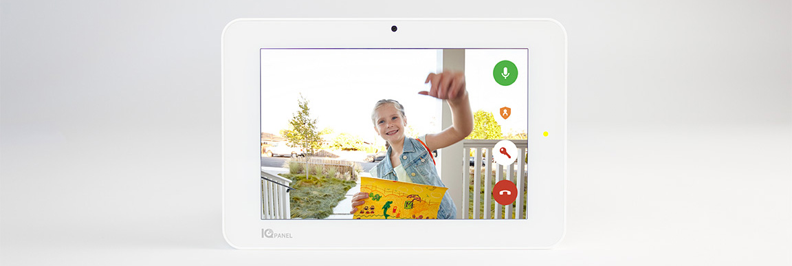 Answer your doorbell with the IQ Panel 2+