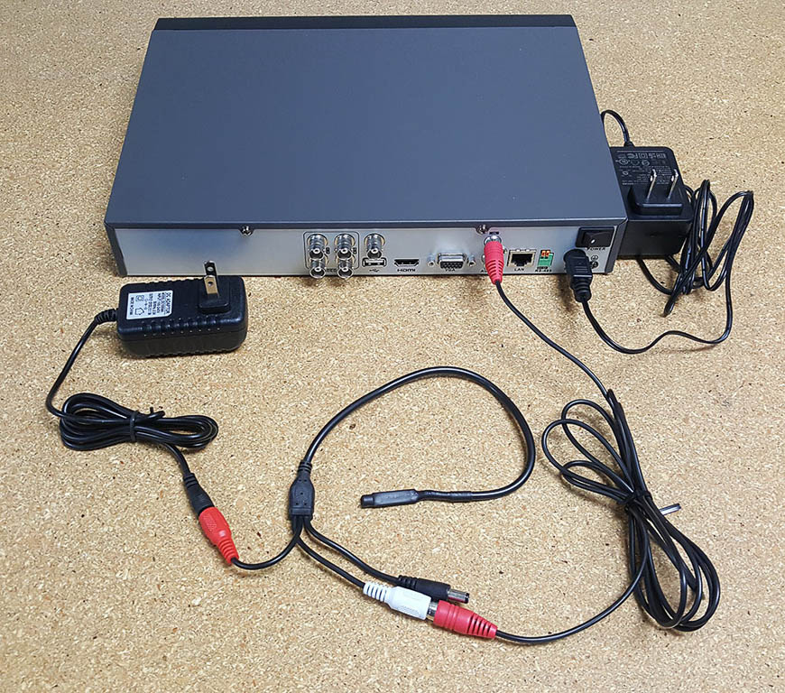 A Pre-Amplified Microphone connected to a DVR.