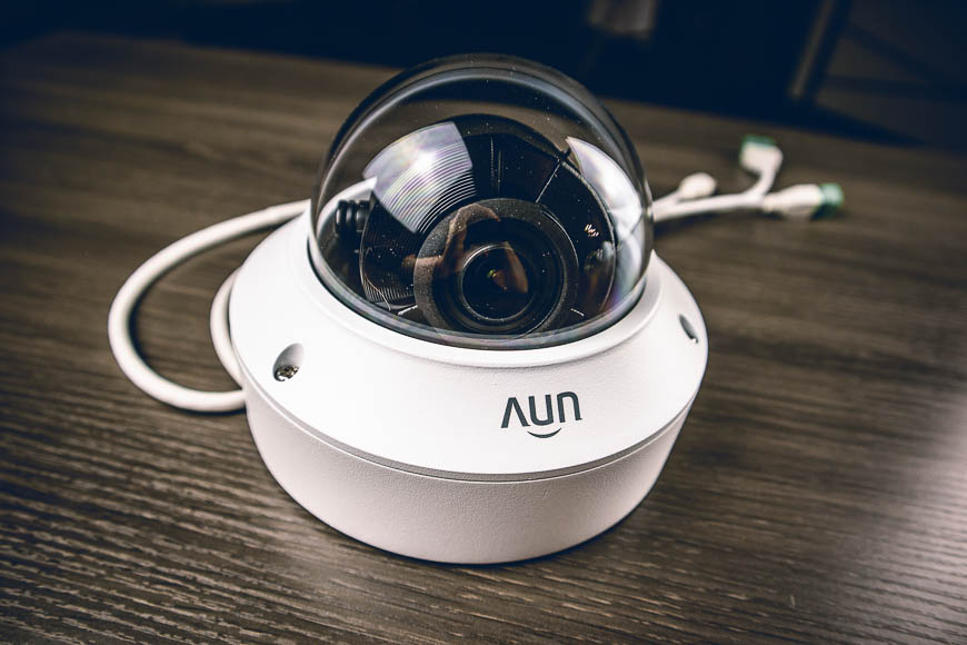 The UNV motorized lens vandal dome IP security camera