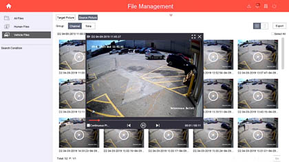 You can also filter your active deterrence camera footage based on target. Here are all vehicle-targeted recordings.