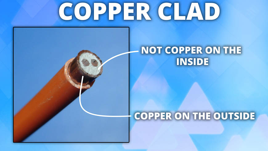 Cables constructed with copper clad aren't nearly as reliable as solid copper cables.
