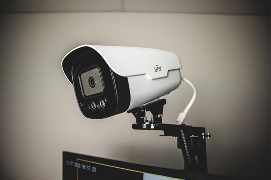 A UNV 2MP LightHunter bullet camera
