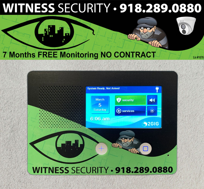 Brand your alarm panel face plate with your company's logo and marketing materials.