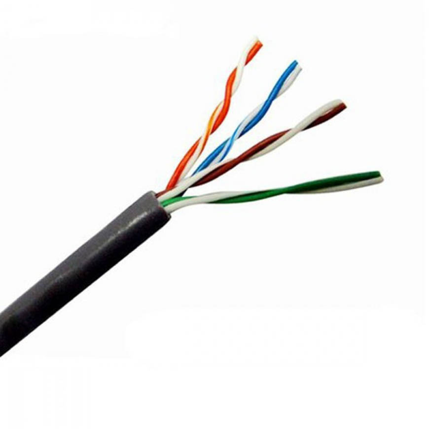An Ethernet cable has 8 wires inside, twisted into four pairs. This is known as a twisted pair.