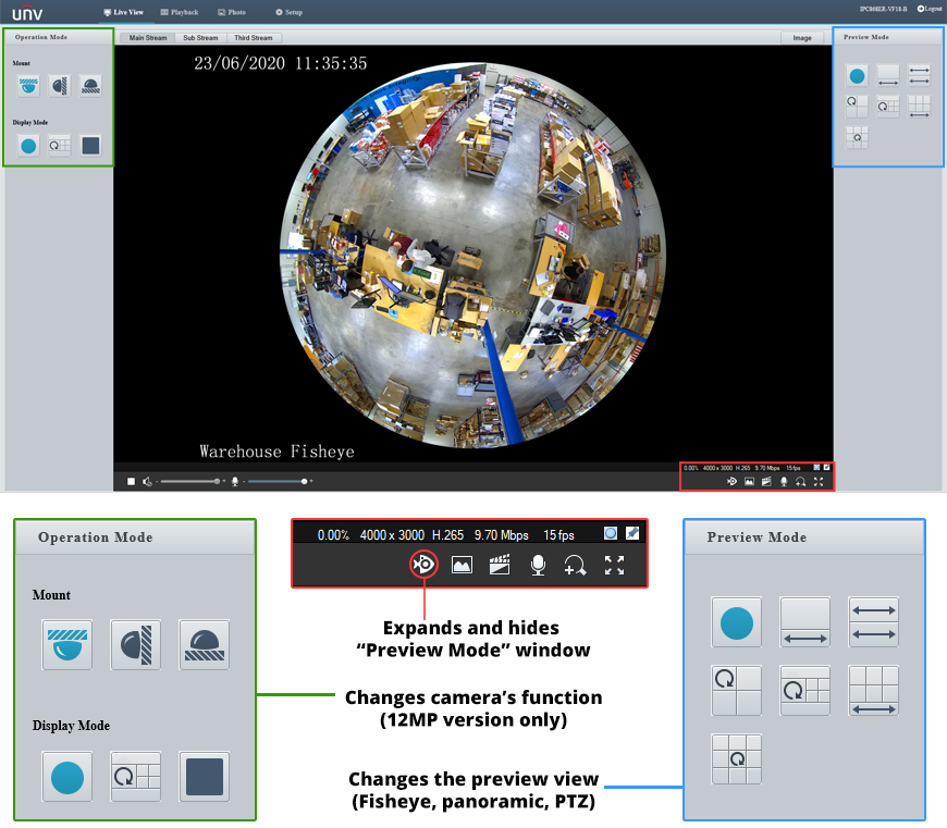 Fisheye Web Interface