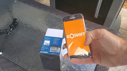 The GoSwift application is both userfriendly and elegant.