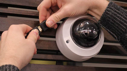 Connect your HDMI cable to your security camera