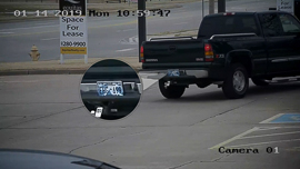 An example of a license plate capture with the NSC-LPR832-BT1 from Nelly's Security