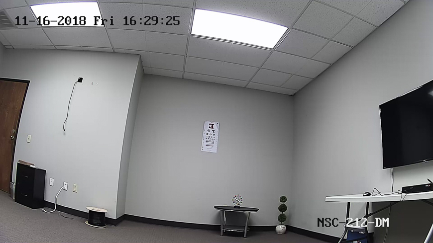 An indoor screenshot from our NSC-212-DM, a 2MP fixed lens vandal dome.