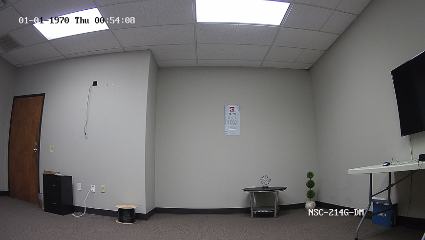 An indoor screenshot from our NSC-214G-DM, a 4MP fixed lens vandal dome.