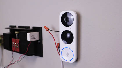 The NSC-DB2 video doorbell is completely DIY. It may sound confusing at first, but it's really simple to add this to your current doorbell's wiring.