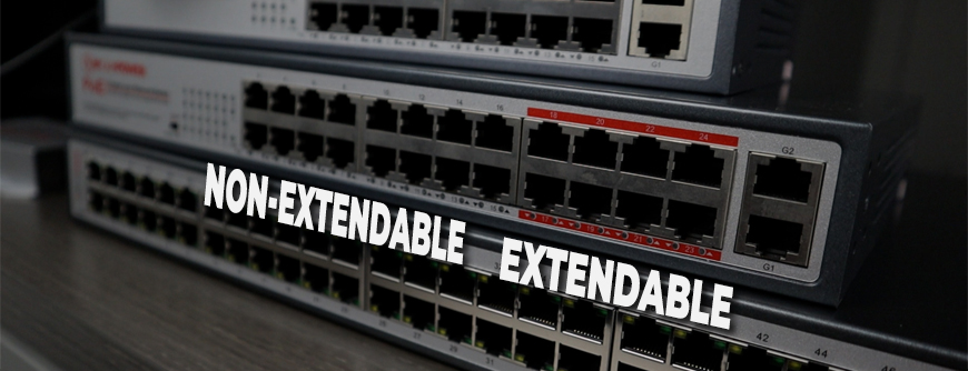 The 24-port switch with extend mode only has 8 ports capable of extension.
