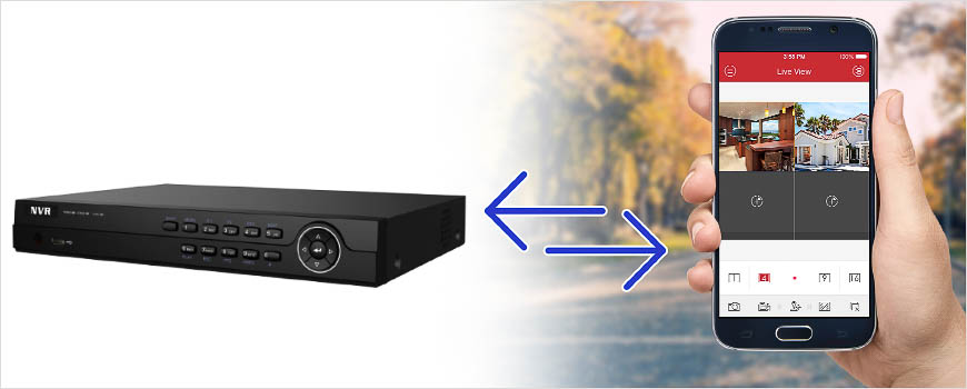 Port forwarding allows you to access your NVR remotely from a mobile device.