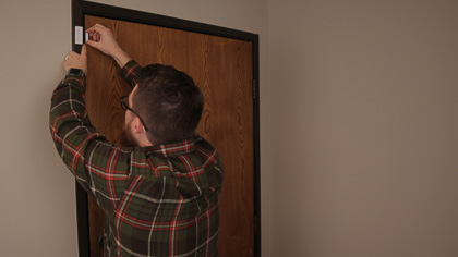 Install the sensors on a door, window, or wherever they need to be installed.