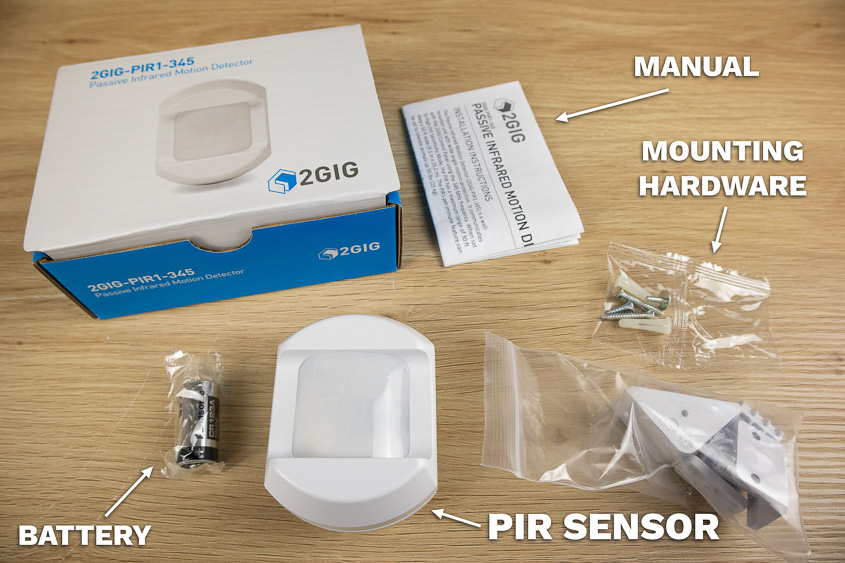 The Rely Panel comes with a PIR motion detector