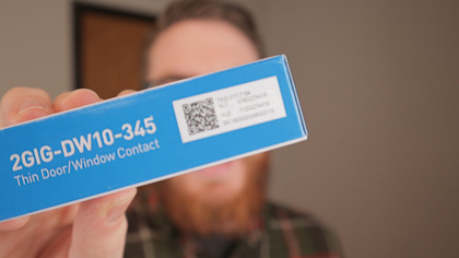 To add new sensors to the Rely Panel, scan the QR code on the back.