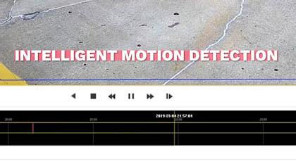 Intelligent motion detection playback