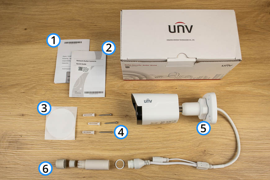 Uniview Fixed Lens Bullet Unboxed