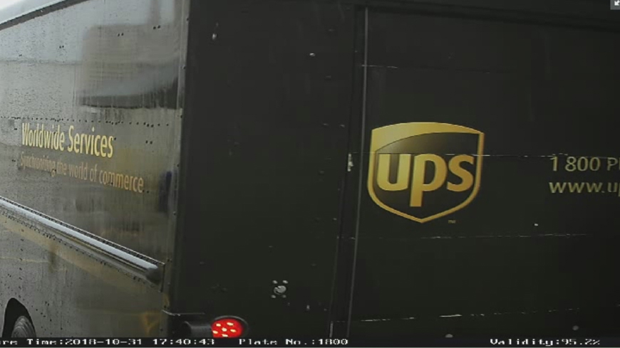 The LPR picked up the phone number on the back of this UPS truck since we didn't focus it on a specific choke point.