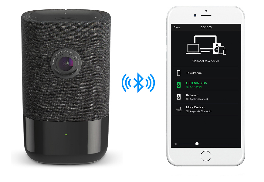 This camera also doubles as a Bluetooth speaker, allowing you to stream music from your mobile device.