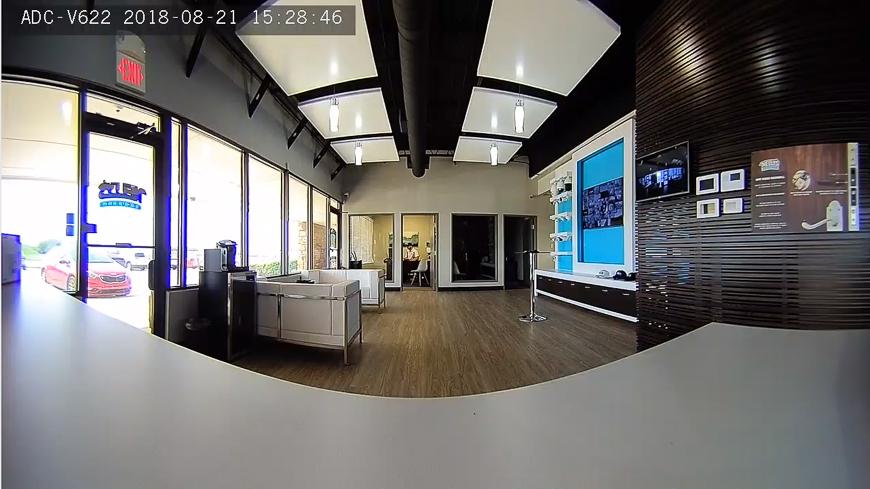 A screenshot from the Alarm.com V622 1080p Wi-Fi camera.