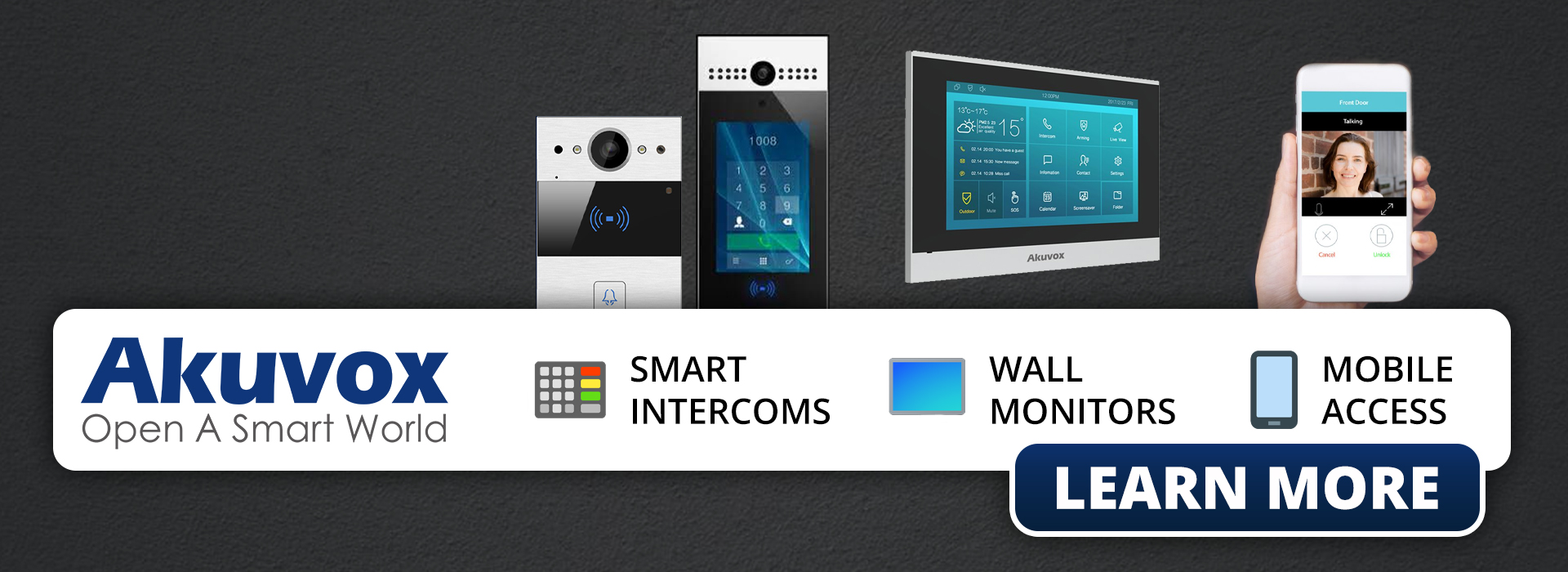 Click to learn more about Akuvox Smart Intercoms and Doorphone Monitors