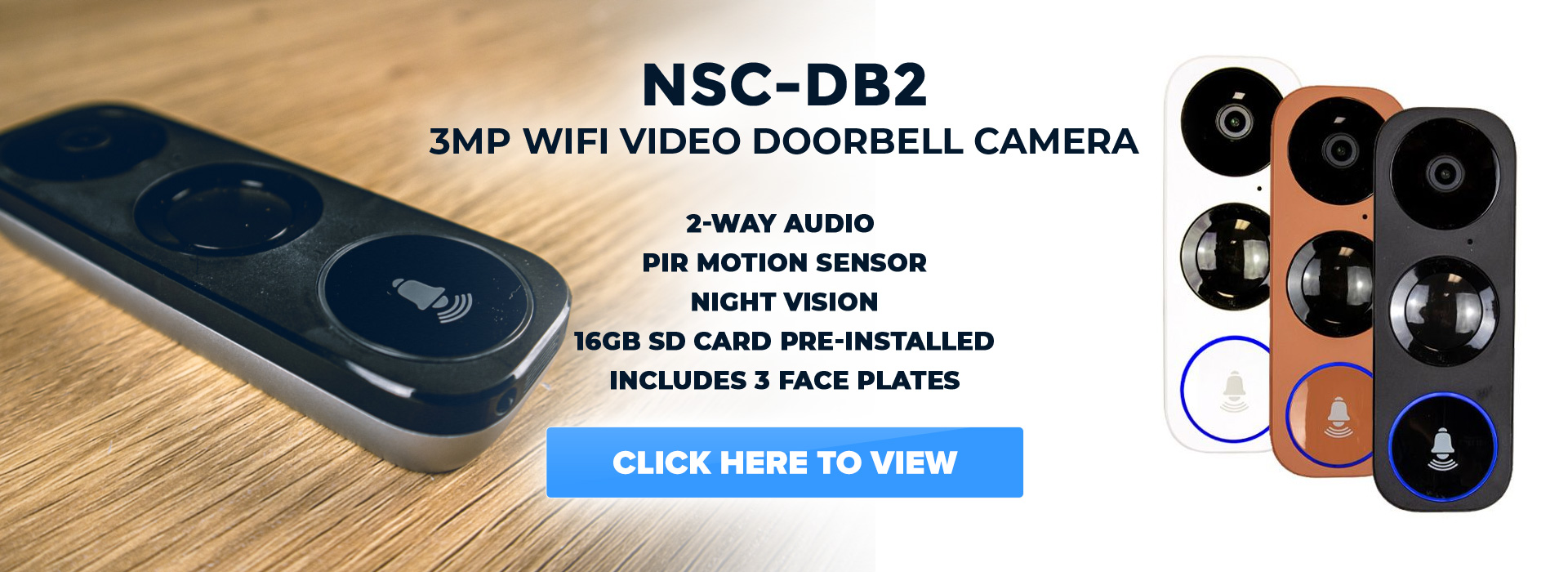 NSC-DB2 3MP Wifi Video Doorbell